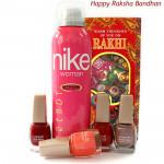 Glamorous - Nike Deo, 4 Lakme Nail Paints