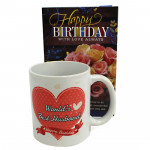Mug For Hubby - Happy Birthday Mug and Card