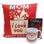 Pillow N Mug - Happy Birthday Cushion, Happy Birthday Mug and Card