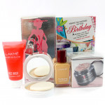 Lakme Fragrance - Lakme Total Care (Lakme Strawberry Face Wash, Lakme Perfect Radiance Intense Whitening Night Cream, Lakme Compact, Lakme Foundation), UDV Perfume and Card