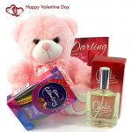Mini Charlie - Charlie White Perfume, Mini Celebrations, Teddy 10 inches and Card