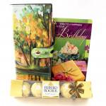 Designer Combo - Designer Clutches, Ferrero Rocher 4 Pcs and Card