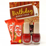 Kitkat N More - 2 Kitkat, 2 Lakme Nail Paint and Card