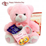 Soft Milky Mug - Happy Valentines Day Mug, 2 Dairy Milk, Teddy 10 inches and Card