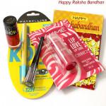 Maybline Combo - Maybeline Kajal, Maybelline Nail Paint, Maybelline Liquid Liner, Lakme Lip Balm