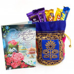 Meaning of Love - 2 Dairy Milk, 2 Five Star, Perk in Designer Potli and Card