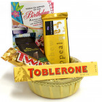 Choco Delicacy - Bournville, Temptations, Twix, Toblerone in Basket and Card