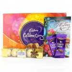 Celebration N Ferrero - Cadbury Celebrations, Ferrero Rocher 4 Pcs, 2 Dairy Milk and Card