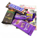 Love for You - Snickers, Dairy Milk Crackle, Bournville, Dairy Milk Silk and Card