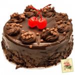 Chocolate Truffle Cake 2 kg  & Card