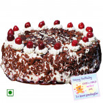 1.5 Kg Black Forest Cake (Eggless) & Card