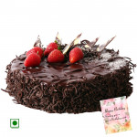 1.5 Kg Chocolate Cake (Eggless) & Card