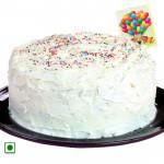 1.5 Kg Vanilla Cake (Eggless) & Card