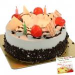 Five Star Bakery - 1.5 Kg Blackforest Cake & Card