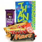 Bars of Joy - 2 Twix, Mars, Dairy Milk 34 gms, Kit Kat and Card