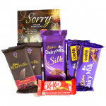 Crackly Fun - Dairy Milk Silk, 2 Bournville, 2 Dairy Milk Crackle, Kit Kat and Card