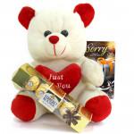 Tedddy Crunch - Teddy 10 inch, Ferrero Rocher 4 Pcs and Card