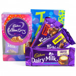 Minis N More - Mini Celebrations, Dairy Milk Fruit n Nut, Dairy Milk Crackle, Dairy Milk Roast Almond and Card