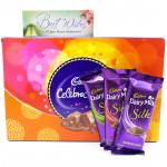 Silky Celebration - Cadbury Celebrations, 3 Dairy Milk Silk and Card