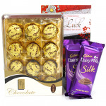More Royale - Royale Chocolates 12 Pcs, 2 Dairy Milk Silk and Card