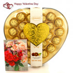 Heart Full of Gold - Queens's Chocolates 24 Pcs and Card