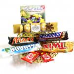 Internationals - Ferrero Rocher 5 Pcs, Snicker, Mars, Twix, Bounty, 2 Kit Kat and Card