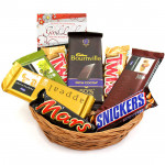 Delicious - 3 Temptations, Bournville 90 gms, Snicker, Mars, 2 Twix and Card
