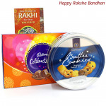 Butterly Celebration - Cadbury Celebrations, Danish Butter Cookies (Rakhi & Tika NOT Included)