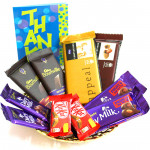 Chocolates for You - 2 Temptations, 2 Bournville, 2 Dairy Milk Fruit n Nut, 2 Dairy Milk, 2 Kit Kat and Card