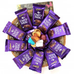 Chocolates N Chocolates - 10 Dairy Milk, Hand Made Chocolates 100 gms and Card