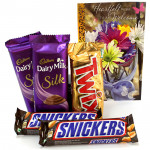 Silky Assortment - 2 Dairy Milk Silk, 2 Snicker, Twix and Card