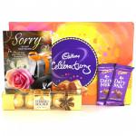 Celebration Combo - Cadbury Celebrations, Ferrero Rocher 5 Pcs, 2 Dairy Milk and Card