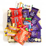 Nutties N More - 5 Dairy Milk, 2 Five Star, 2 Choco Pie, Cadbury Nutties, Gems and Card