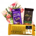 Dark Tempting Silk - Bournville, Temptations, Dairy Milk Silk and Card