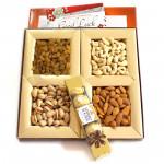 Delightful Present - Assorted Dryfruits, Ferrero Rocher 4 pcs