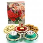 Aspiring Gift - Cashewnuts Almond, Auspicious Ganesha Thali