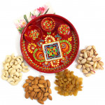 Required to Delight - Assorted Dry Fruits, Meenakari Thali 6 inch