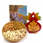 Great Bestowal - Assorted Dry Fruit Basket, Kalash Ganesha
