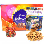Premium Divinity - Almonds, Cadbury Celebrations, Red Ganesha Idol