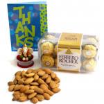 Touch of Love - Almonds, Ferrero Rocher 16 Pcs, Ganesha Idol