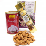 Admirable Tenderness - Almond, Rasgulla 500 gms Tin, Ferrero Rocher 5 pcs