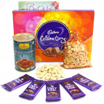 Lovely Warmth - Cashew in Potli, Cadbury Celebration, Gulab Jamun Tin 500 gms, 5 Dairy Milk