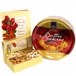 Endearing Gift - Assorted Dryfruits in Box, Danish Butter Cookies