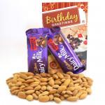 Badami Nut  - Almonds, 2 Dairy Milk Fruit & Nut