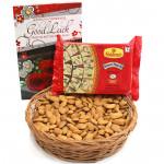 Crunchy Love - Almonds in Basket, Soan Papdi 250 gms