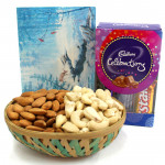 Gift of Affection - Almonds & Cashews in Basket, Mini Celebrations