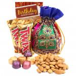 Massive Happiness - Almonds in Potli (D), 2 Twix, Handmade Chocolates