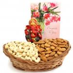 Feeling Blessed - Cashews & Almonds, Red Ganesh Idol