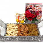 Divine Thali - Almonds & Cashews & Raisins, Decorative Ganesh Idol