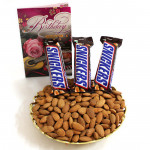 Sneaky Nutty - Almonds, 3 Snickers
